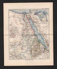 Carte MAP 1892: l'égypte Dar pour et l'Abyssinie. nord-Afrique Africa Colonie 6