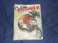 Custom Chopper Magazine / December 1975 / Trike / Pinstripe Paint / Cafe Racer