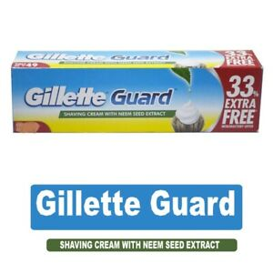 Gillette Guard Shaving Cream - 125g | Neem seed Extract | Comfartable shav