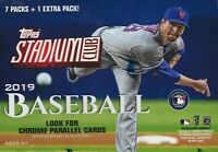 2019 Topps STADIUM CLUB Baseball MLB Trading Cards 8pk BLASTER Box = 40 Cards