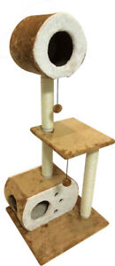 SLS Three Story Cat Tree With Hideaways, Scratching Posts and hideaways