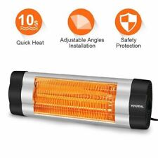 VIVREAL HOME Wall Mounted Heater 1500W Infrared Heater with Carbon Fiber Tube