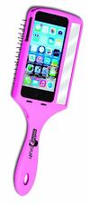 WET BRUSH Boxed SELFIE HAIR BRUSH Pink w/Mirror PHONE CASE For iPhone 5/5S NEW!