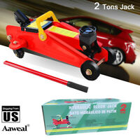 2 Ton Portable Floor Jack Vehicle Car Garage Truck Auto Steel Hydraulic Lift