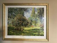 """Vintage Claude Monet """"The Parc Monceau Paris"""" Framed Print..... 18 x 22"""