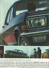 OPEL ADMIRAL -  Diplomat V8 - Kapitaen  - Konvolut - Werbung - Reklame