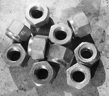 """1/2"""" BSF Bright Zinc Plated Nyloc Steel Locknuts x 10"""