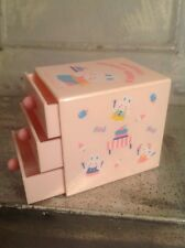 Vintage Sanrio 1979 Friendly Trinket World Dresser Drawer Box Hello Kitty Rabbit