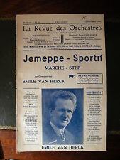 Partitur überprüfen und Orchester 1934 Jemeppe sportif Emile van Herck