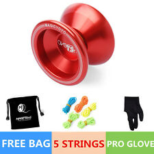 Magic YOYO Ball T5 Overlord Aluminum Alloy Kids Toys Gift Red 5 String 1Baも