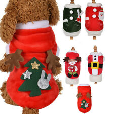 Christmas Puppy Dog Jumper Outfit Pet Reindeer Costume Hoodie Clothes Coat UK
