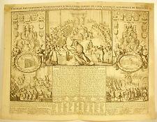 Chatelain 1720 Angleterre Carte Du Gouvernement Ecclesiastique Cambridge Oxford