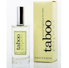 TABOO EQUIVOQUE FOR WOMAN AND MEN PHEROMONES PERFUM FRAGANCE SEXY SENSUAL. NEW