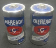 "2 Vintage Eveready Alkaline Energizer ""C"" Battery Flashlight Batteries"