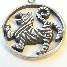 Solid Silver Shotokan Karate Tiger Medallion