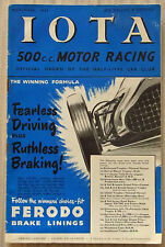 IOTA 500cc MOTOR RACING Car Magazine November 1952 HALF LITRE CAR CLUB
