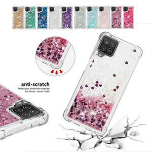 For Samsung Galaxy A12 A32 A51 5G Shockproof Glitter Liquid Phone Case Cover