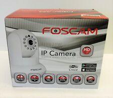 Foscam FI9821W V2 CAMERA HD 1280 x 720p H.264 Wireless/Wired Pan/Tilt IP NOB NEW
