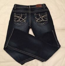 Maurices Original Boot Cut Thick Stitch Vintage Dark Jeans Sz (30x32) EUC 3/4
