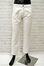 Pantalone Uomo MARLBORO CLASSICS Taglia 46 Jeans Pants Man Lino Regular Bianco