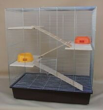 Nagerkäfig , Chinchillakäfig, Rattenkäfig , XXL Holzausstattung chrome/braun