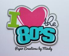 CRAFTECAFE MINDY LOVE 80'S MUSIC premade paper piecing scrapbook title diecut