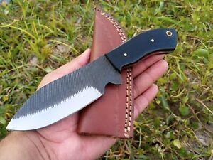 8 INCH Nest! Handmade D2 steel hunting skinner knife BULL HORN HANDLE 1286