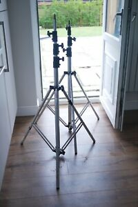 Manfrotto ALU MASTERSTAND ART 236 Heavy Duty Light Stands / X2. Height Approx 4m