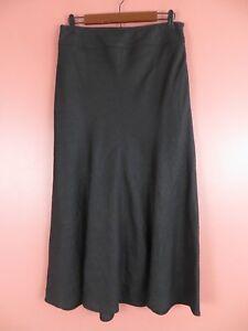 SK11768- TALBOTS Womens 100%Irish Linen Paneled Flared Full Skirt Off White Sz 6