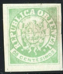 1864 Uruguay classic stamp coat of arms 21 MNG Type6 VF margins sun allegory