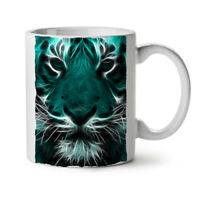 Tiger Face Wild Animal NEW White Tea Coffee Mug 11 oz | Wellcoda