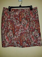 Ann Taylor Loft Paisley Size 12P Skirt