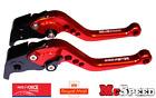TRIUMPH SPEED TRIPLE R 2012-2015 Short Adjustable Brake & Clutch CNC Lever Red