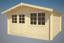 Gartenhaus Saale + Fussboden + Schindeln Blockhaus Holz Haus Gerätehaus 400x400