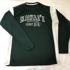OVB Old Varsity Brand Men Large Green Hawaii Athletics L/S Shirt