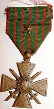 Decoration Croix de Guerre 1914-18 avec 1 etoile