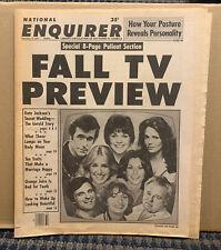 "1978 September 28 NATIONAL ENQUIRER Magazine/Newspaper ""FALL TV PREVIEW"" (A41)"