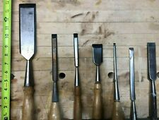 New ListingLot of 23 Woodworking Chisels, Turning Gouges & Wood/Leather Carving Tools