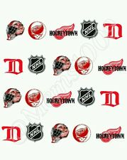 NHL Detroit Red Wings Nail art water decals  Free Shipping Hockey nail art!!