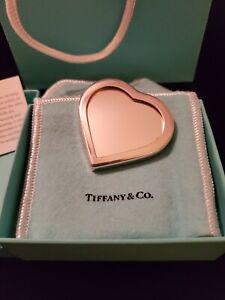 Rare Vintage Tiffany & Co. Galbiati Italian Sterling Silver Heart Mirror