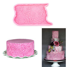 Silicone Relief Cake Border Mould Baking Icing Fondant Mold Embosser Decoration