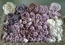 Zuckerrosen 15 x 8-10cm groß+125 Stck Zuckerblumen Hochzeit z.BWeiß,Rosa,Lila