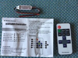 LED Streifen Controller mit RF Wireless Remote DC 5-24V 12A Mini LED Band Dimmer
