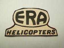 Vintage ERA Helicopters Advertising Woven Plastic Coated Sew On Patch