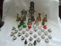 Vintage lot of 40 beautiful bells for any occasion, taste, display, collection.