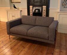 Habitat Robin Days Forum Walnut 2 Seat Sofa Reupholstered Vintage Weave Fabric