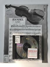 Music Minus One Violin Cd Book 18th Century Handel Largo Giordani Haydn Mmo