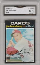 JIM BEAUCHAMP -- 1971 TOPPS -- #322 -- GRADED EX-NM+  6.5
