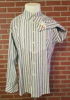 Robert Graham Long Sleeve Button Front Mens Shirt Size 2XL New w/out Tags Stripe