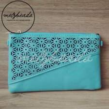 Teal Turquoise Clutch Shoulder Bag Evening Day Party Boho Bohemian Ladies Gift